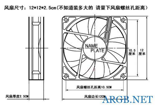 机箱、CPU风扇各尺寸规格对照表和测量方法